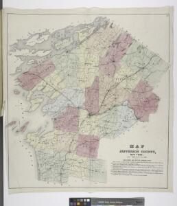 Map of Jefferson County, New York.