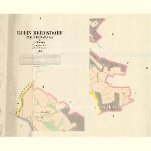 Klein Hermsdorf (Mala Heřmanka) - m0699-1-001 - Kaiserpflichtexemplar der Landkarten des stabilen Katasters