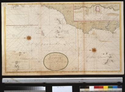 Generaale kaart van de kust van Barbarija van Portugaal tot Cabo Verde als ook de Carnarisse, Vlaamse en Zoute Eijl.