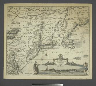 Novi Belgii Novaeque Angliae nec non partis Virginiae tabula / multis in locis emendata per Nicolaum Visscher.