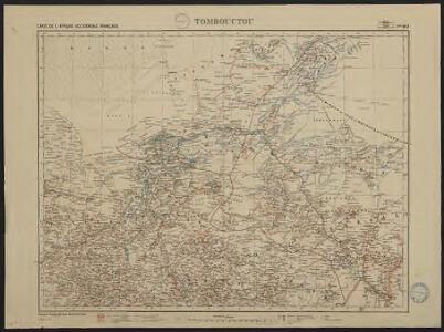 Carte de l'Afrique occidentale française. Tombouctou