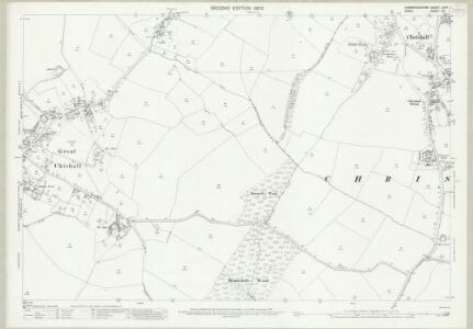 Cambridgeshire LXIIB.1 (includes: Chrishall; Great Chishill; Heydon; Little Chishill) - 25 Inch Map