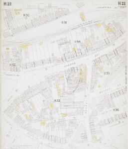 Insurance Plan of London East South-East District Vol. H: sheet 21