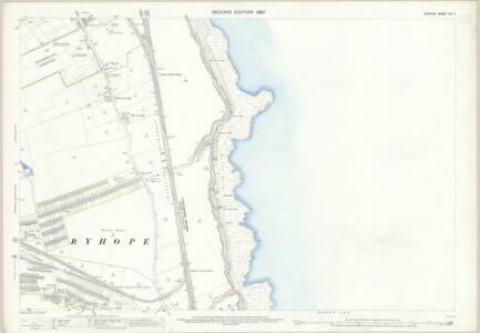 Durham XIV.7 (includes: Ryhope; Sunderland) - 25 Inch Map