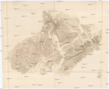[Carte du relief de le Moravie et de la Silesie par des hachure]