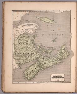 Nova-Scotia, New Brunswick &c.