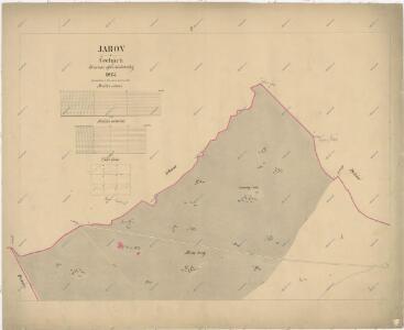 Katastrální mapa obce Jarov