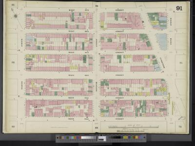 Manhattan, V. 5, Double Page Plate No. 91 [Map bounded by W. 37th St., 6th Ave., W. 32nd St., 8th Ave.]