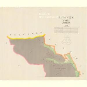 Serowitz - c9451-1-001 - Kaiserpflichtexemplar der Landkarten des stabilen Katasters