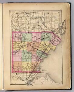 (Map of Monroe County, Michigan)