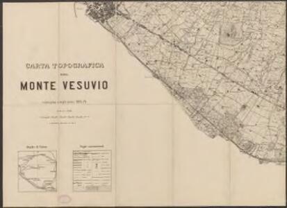 Carta topografica del monte Vesuvio