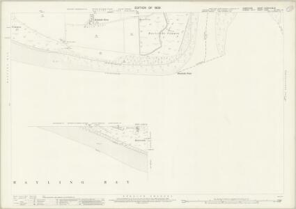 Hampshire and Isle of Wight LXXXIV.16 & 15 (includes: Havant; West Wittering) - 25 Inch Map