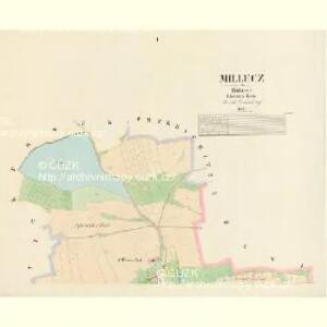 Millecz - c4645-1-001 - Kaiserpflichtexemplar der Landkarten des stabilen Katasters