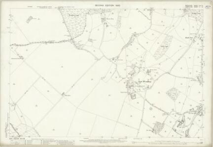 Berkshire XLII.14 (includes: Combe; East Woodhay; West Woodhay) - 25 Inch Map