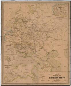 Karta želěznych dorog Rossijskoj imperiji