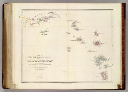 Map of The Leeward Islands.