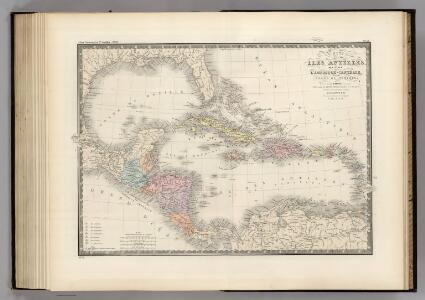 Golfe de Mexique, Iles Antilles, l'Amerique Centrale.