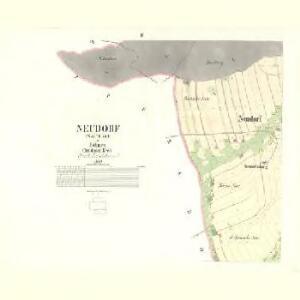 Neudorf (Walterice) - c8318-1-002 - Kaiserpflichtexemplar der Landkarten des stabilen Katasters