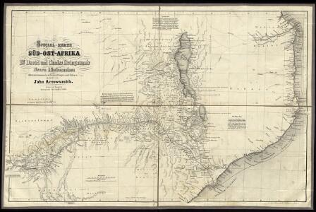 Special Map of South-East Africa to Dr. David and Charles Livingstone's new mission travels