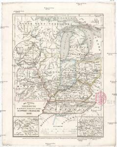 Die Staaten von Missouri Illinois, Indiana, Ohio, Kentucky & Tennessee
