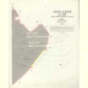Gross Aurzim (Welky Auřim) - c8466-1-005 - Kaiserpflichtexemplar der Landkarten des stabilen Katasters