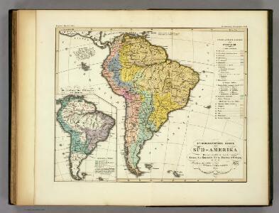 Ethnographische Karte von Sud-Amerika.