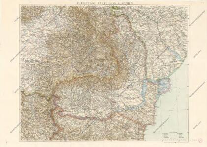 Karte von Rumanien