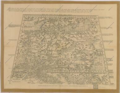 Kardinála Mikuláše Kusy mapa střední Evropy z prostředka XV. Století