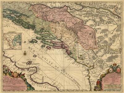 Le Royaume de Dalmacie, Divisé en ses Comtez, Territoires etc. La Morlaquie, et la Bosnie