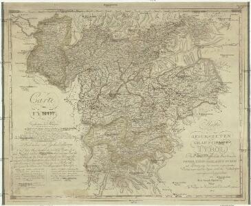 Karte der gefürsteten Grafschaft Tyrol nach den vortrefflichen Karten des Peter Anich und Blasius Huber