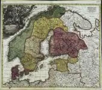 Scandinavia complectens Sueciæ, Daniæ & Norvegiæ regna