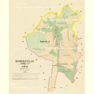 Dobrzikau (Dobrzikow) - c1216-1-001 - Kaiserpflichtexemplar der Landkarten des stabilen Katasters