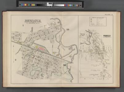 Monroe County, Double Page Plate No. 31  [Map of Despatch town of Pittsford and Perinton, Penfield]