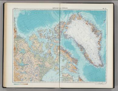185-186.  North Canada, Greenland.  The World Atlas.