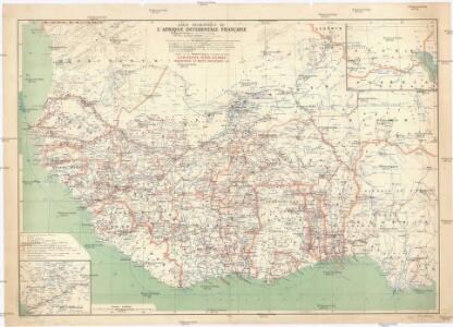 Carte touristique de l'Afrique occidentale française