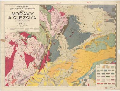 Přehledná geologická a tektonická mapa Moravy a Slezska