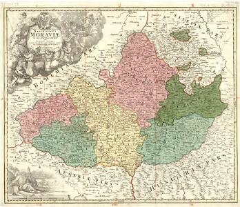 Tabula Generalis marchionatus Moraviae in sex circulos divisa