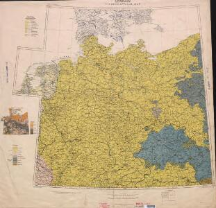 Ethnographical map (Eastern Europe). Germany 1918