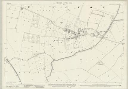 Cambridgeshire XXXIV.9 (includes: Cottenham; Long Stanton All Saints; Long Stanton St Michael; Rampton; Willingham) - 25 Inch Map