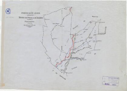 Mapa planimètric de la Pobleta de Bellveí (Torre de Cabdella)