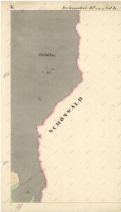 Katastrální mapa obce Nový Losimtál (Jedlina) WC-XVI-21 be