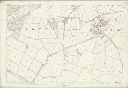 Warwickshire LVI.16 (includes: Barton on The Heath; Chastleton; Great Wolford; Little Compton) - 25 Inch Map