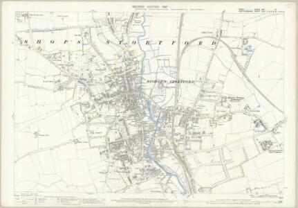 Essex (1st Ed/Rev 1862-96) XXII.15 (includes: Bishops Stortford) - 25 Inch Map