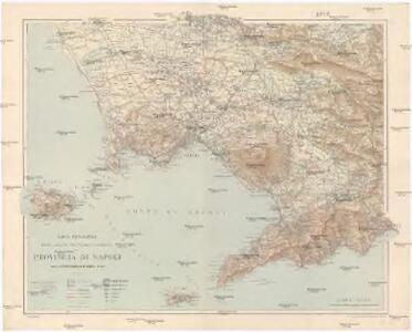 Provincia Di Napoli Cartina.Carta Topografica Politico Amministrativa Stradale E Ferroviaria Della Provincia Di Napoli