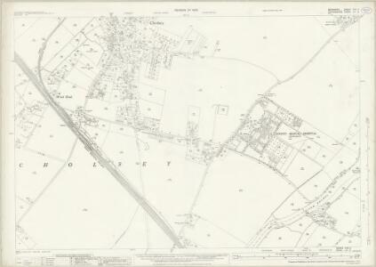 Berkshire XXII.2 (includes: Checkendon; Cholsey; Crowmarsh; Ipsden) - 25 Inch Map