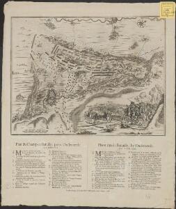 Plan du champ de bataille, prés d'Oudenaerde l'11. Juillet 1708