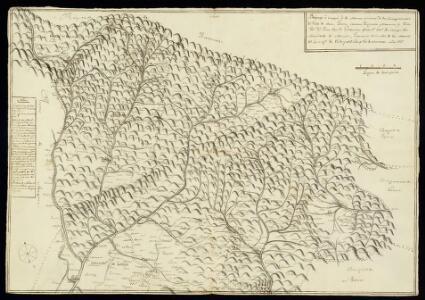 Manuscrit: Bosquexo o croquis de los montes Pirineos de los corregimientos del Valle de Aran, Talarn, Cervera, Puigcerda, Manresa y Vich / por Dn. Juan Baut. Golobardas...