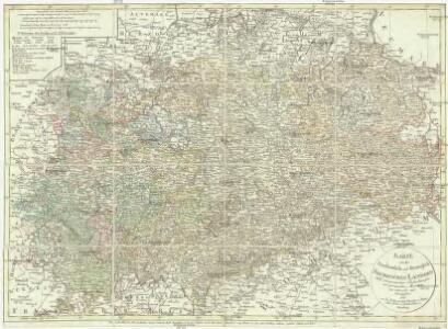 Karte von den Kurfürstlich- und Herzöglich- Saechsischen Laendern