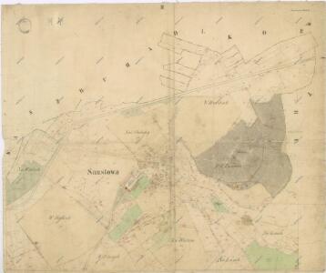 Katastrální mapa obce Soustova
