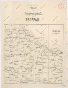 Karte der Umgebung von Troppau